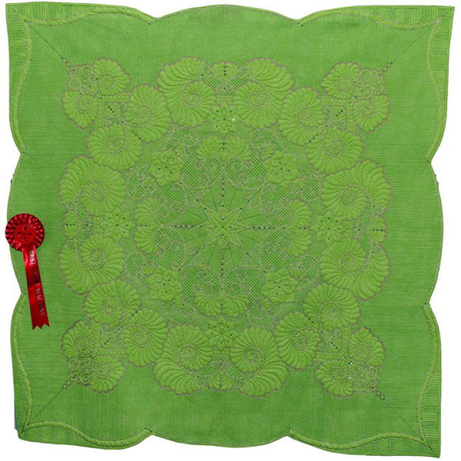 Best Home Machine Quilted - Green is Gold   by  Simone Steuxner
