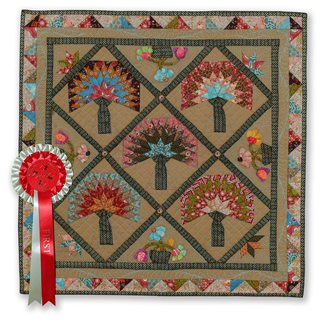 First Place - Mini Quilts - Enchanted Forest by Nora Ali