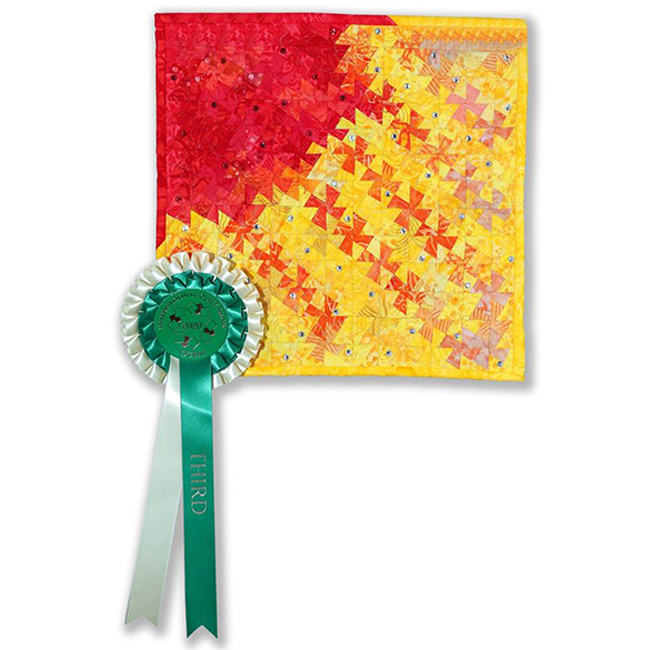 Third Place- Mini Quilts - You are my Sunshine by Lynn Altmayer