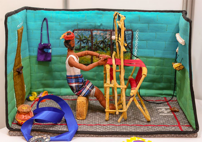 Second Place - Quilt Creations - Patakaara - the weaver by Sowmyalakshmi Raghunathan