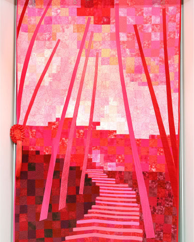 Winner - Bamboo Forest in Red by Gaye Alger
